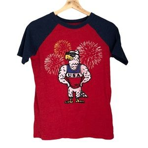 Kids July 4 Independence Day Eagle T Shirt 🇺🇸 14